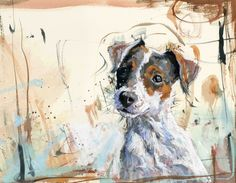 Jack Russell canvas by James Bartholomew
