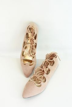 Pirouette Lace Up Flats | Glamour and Glow