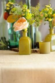 grouped vases- perfect! These make wonderful wedding favors also