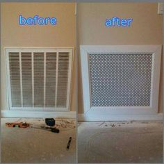 New return air vent cover! New return air vent cover! Home Upgrades, Home Improvement Projects, Home Projects, Home Renovation, Home Remodeling, Bathroom Remodeling, Air Vent Covers, Air Return Vent Cover, Floor Vent Covers
