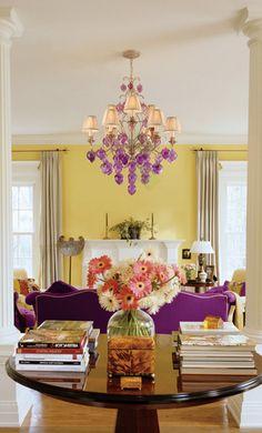 Amarillo + complementario: violeta