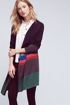 Possible way to add a little color this fall Junie Striped Cardigan #anthropologie