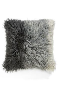 Nordstrom at Home Ombre Faux Fur Flokati Accent Pillow Grey Silk Multi One Size by: Nordstrom at Home @Nordstrom
