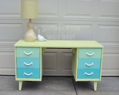 Love this old repainted desk!