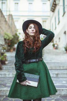 Laura manfredi, rocknmode, rock'n'mode, Outfit, cappotto a ruota, DROme, clutch DROMe, cinta con fiocco, tacco 12, zara shoes, scarpe zara, ...
