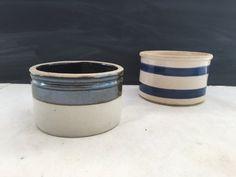 Vintage Stoneware Crock - Dairy Stoneware - Roseville Pottery - Kitchen Decor…