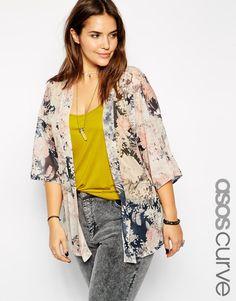 ASOS CURVE | Kimono in romantic floral print