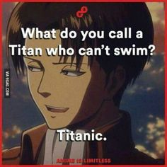 attack on titan, shingeki no kyojin, funny, pun, titanic, joke
