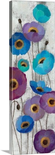 Bold Anemones Panel II, by Silvia Vassileva