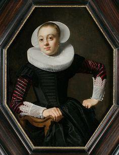 Portrait of a Young Woman // Oil on panel; c. 1630-33   Thomas de Keyser (Dutch, c. 1596–1667)