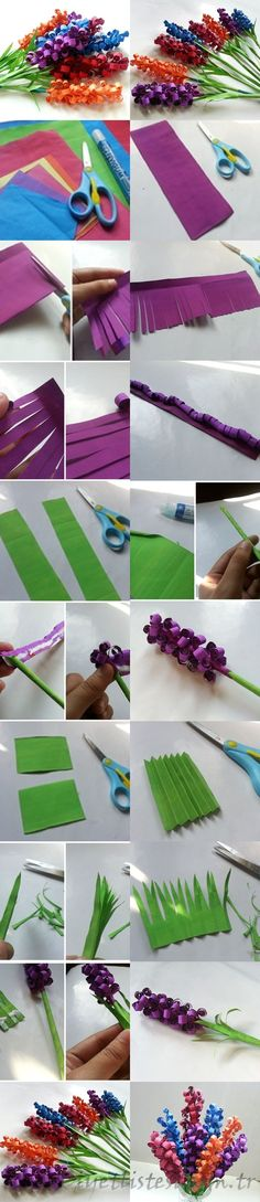 DIY Swirly Paper Flowers Diy Craft Crafts Easy Ideas Summer Crafty Decor Decorations How To Tutorials