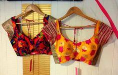Beautiful Blouses for saree's. Choli Designs, Blouse Neck Designs, Blouse Patterns, Blouse Styles, Henna Patterns, Dress Designs, Indian Blouse, Indian Wear, Sari Blouse