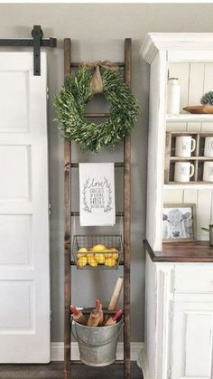 One Simple Trick for Kitchen Decor Ideas Apartment Small Spaces Unveiled - a., One Simple Trick for Kitchen Decor Ideas Apartment Small Spaces Unveiled - a. Country Farmhouse Decor, Farmhouse Kitchen Decor, Kitchen Redo, Wall Decor For Kitchen, Vintage Farmhouse, Small Wall Decor, Kitchen Storage, Vintage Kitchen Decor, Farmhouse Style Decorating
