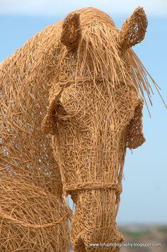 Amazing horse sculpture.