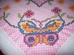 Chicken Scratch butterfly corner
