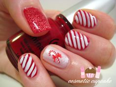 cute Christmas time nails