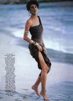 "Glamour Mermaids / karen cox. ""Shell Games"" - Vogue USA March 1990 - ph. Demarchelier"