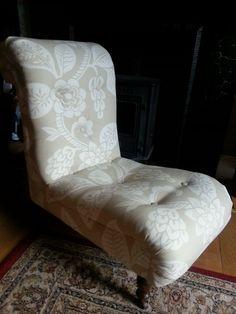 Victorian slipper nursing chair