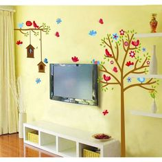 Decal Dzine Sweet Birds And Nest With Trees