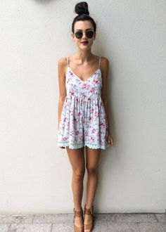 cute floral playsuit