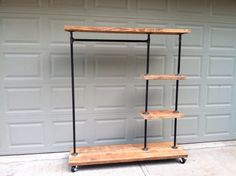 Industrial Display Rack by TylerKingstonWoodCo on Etsy, $565.00