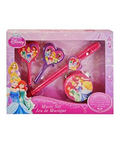 Musically inclined munchkins can shake, rattle and roll with the instruments included in this Disney princess music set. Little ones are sure to love the precious pictures of all the royals printed on these melody makers.