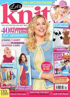 Let's Knit, Issue July 2013 by letsknitmag - issuu Knitting Books, Knitting For Kids, Vintage Knitting, Baby Knitting Patterns, Baby Patterns, Free Knitting, Crochet Patterns, Knitting Magazine, Crochet Magazine