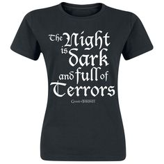 Night Is Dark And Full Of Terrors - T-Shirt Manches courtes par Game Of Thrones