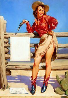 Farm Cowgirl Gun Pop Art Pin-Up Do Vintage Poster Retro Clássico kraft cartazes mapa decorativo adesivo de parede bar em casa diy decoração presente