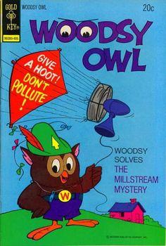 BIOGRAFIAS E COISAS .COM: capas da revista em quadrinhos WOODSY OWL covers da editora gold key