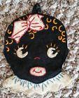 Very Rare 1930s Black Americana Handmade Folk Art Pot Holder ~ Free Shipping