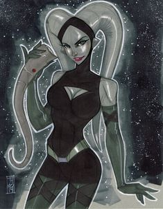 Star Wars - Twilek Vanessa from Phineas and Ferb by Tom Hodges