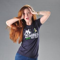Zombies Hate Fast Food Women's now featured on Fab.