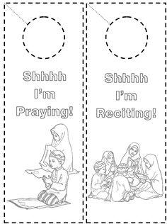 Door Knob hangers (Shhhh I'm praying, Shhhh I'm Reciting!)