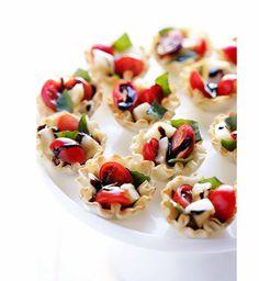 Idée apéritif léger : des tartelettes tomates balsamique