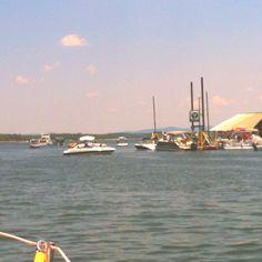 Mountain Harbor marina. Memorial Day weekend.