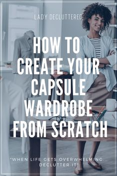 Have you ever wanted to create your own simplified capsule wardrobe but not sure where to begin? Learn how to get your wardobe organized in 8 simple steps! Casual Fall Outfits, Winter Outfits, Organizing Walk In Closet, Capsule Wardrobe Work, Simple Quotes, True Quotes, Minimalism, Create, Organization Ideas