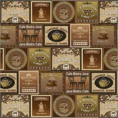Benartex Cafe Bistro Vintage Labels fabric (on sale for 5.50/yd!)