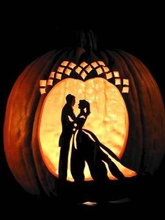 Never would have thought to carve pumpkins for fall wedding