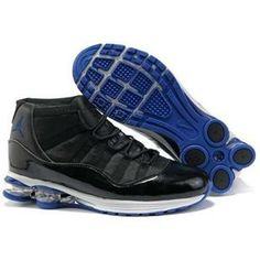 quality design cb33c f41ba Buy Men s Nike Air Jordan 11   Shox Shoes Black White Blue Discount from  Reliable Men s Nike Air Jordan 11   Shox Shoes Black White Blue Discount  suppliers.