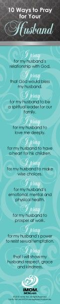 Pray for your husband!
