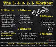 The 5-4-3-2-1 Workout | Fitness Republic