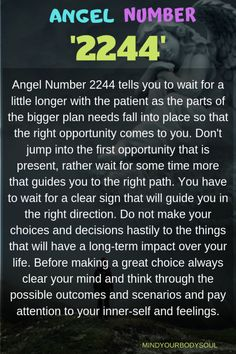 Angel Number 2244 tells you to wait for a little longer with the patient as the parts of the bigger plan needs fall into place so that the right opportunity com Sacred Angel Numbers, Angel Number Meanings, Spiritual Wisdom, Spiritual Awakening, Spiritual Meaning Of Numbers, Angel Guide, Numerology Numbers, Healing Words, Positive Affirmations