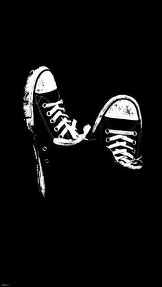Converse Wallpaper Unique IPhone Wallpaper Converse All Star IPhone Wallpaper Sepatu Black And White Wallpaper Iphone, White Wallpaper For Iphone, Beste Iphone Wallpaper, Dark Wallpaper, Iphone Wallpapers, Unique Wallpaper, Wallpaper Keren, Black Desktop, White Iphone
