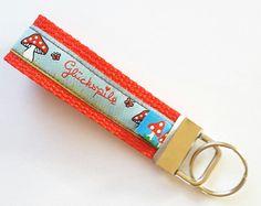 """Schlüsselanhänger - Schlüsselanhänger """"Glückspilz"""" - ein Designerstück von XBergDesign2 bei DaWanda"""