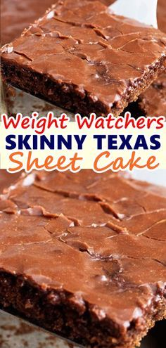 SKINNY TEXAS SHEET CAKE A delicious and moist Texas sheet cake that is made with healthier ingredients and absolutely incredible! Don't forget to Pin this so it will be SAVED to your timeline! W Watchers, Weight Watchers Cake, Weight Watchers Desserts, Weight Watcher Cookies, Skinny Recipes, Ww Recipes, Snacks Recipes, Waffle Recipes, Recipies