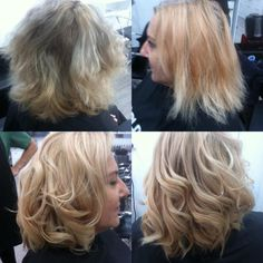We love a good change from dry, brassy and patchy to shiny, soft, creamy and glossy. Blonde never looked so fresh, this change was created using goldwell colour at the cannon hill Epic Hair Designs
