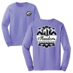 Show off your Blue Raider pride in this super cute purple long sleeve tee! #comfortcolors #MTSU #BlueRaiders #trueblue #textbookbrokers
