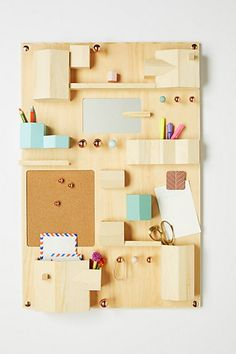 Hanging Desk Organizer #anthropologie. Beside the fridge