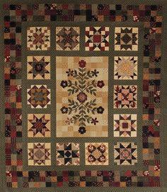 stars around the garden quilt pattern - Google Search